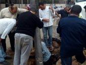 شركة مياه الشرب بالقاهرة اثناء اصلاح تسريب المياه