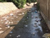 طفح مياه الصرف الصحى خلف نادى المعصره
