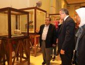 جانب من تفقد المتحف المصرى
