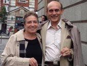 الفنان محمد صبحى وزوجته الراحلة نيفين