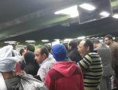 تكدس الركاب لتأخر مترو العتبة