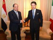 الرئيس عبد الفتاح السيسى ورئيس وزراء إيطاليا