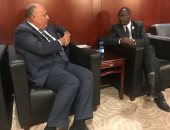 وزير الخارجية سامح شكرى يلتقى وزير خارجية رواندا