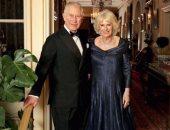 الأمير تشارلز وزوجته بعد حفل عيد الميلاد