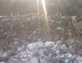 تراكم القمامة بمنطقة أم بيومى بشبرا الخيمة