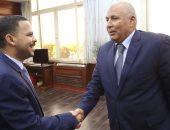 أشرف رشاد رئيس لجنة الشباب والرياضة بمجلس النواب محافظ الوادى الجديد محمد الزملوط