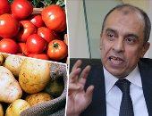 الدكتور عز الدين أبو ستيت وزير الزراعة وطماطم وبطاطس