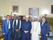 وزير الأوقاف  يستقبل الشيخ سيريك باي أوراز والشيخ شعبان رمضان