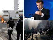ماكرون ومظاهرات السترات الصفراء