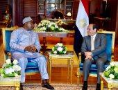 الرئيس عبد الفتاح السيسي  و  الرئيس الجامبي آداما بارو