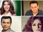 أنغام ومحمد محيى ومصطفى قمر وسميرة سعيد