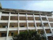 انهيار أجزاء من خرسانة الطابق الأخير لمدرسة برويش