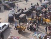 شكوى من الاشغالات والباعة الجائلين بميدان محطة مترو حلوان