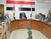 اجتماع الدكتور أحمد الانصارى محافظ سوهاج