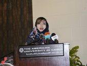 الكاتبة السعودية أميمة الخميس الفائزة بجائزة نجيب محفوظ 2018