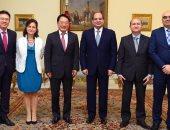 الرئيس عبدالفتاح السيسي يستقبل رئيس اليونيدو