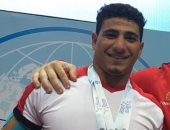 أحمد عاشور لاعب المنتخب الوطنى لرفع الأثقال