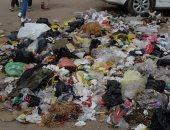 القمامة فى منطقة أثرية بميدان المسلة القديم فى المطرية