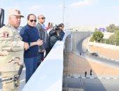 السيسى يتفقد مشروعات العاصمة الإدارية