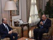 وزير الخارجية سامح شكرى يستقبل مبعوث الرئيس الفرنسى