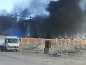 حريق هائل بمصنع ببنى سويف