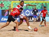 مباراة مصر والمغرب فى البطولة الشاطئية