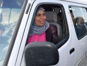 السيدة نحمدو سائقة الميكروباص