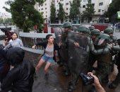 اشتباكات عنيفة بين شرطة تشيلى ومتظاهرين
