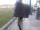 كابل كهرباء عار فى ميدان رمسيس