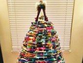 شجرة الكريسماس من الكتب