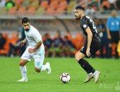عبد الله السعيد خلال المباراة