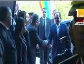 الرئيس السيسى لدى وصوله الجبل الاصفر