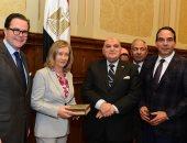 كمال عامر رئيس لجنة الدفاع والأمن القومى بمجلس النواب يستقبل نائب رئيس مجلس الشيوخ الفرنسى