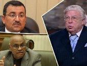 الراحل حسن كامى والنائب أسامة هيكل والنائب يوسف القعيد
