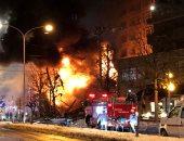 جانب من الحريق فى مطعم باليابان