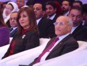 الدكتور محمد العصار وزير الدولة للإنتاج الحربي ووزيرة الهجرة