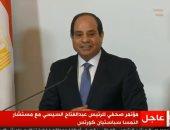 الرئيس السيسي بالمؤتمر الصحفى