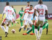 محمد إبراهيم فى مباراة الزمالك والقطن التشادى