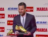ميسى يتسلم الحذاء الذهبى