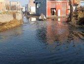 غرق المنازل بمياه الصرف الصحي
