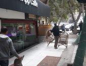 حى العجوزة يرفع إشغالات المقاهى بمنطقة المهندسين