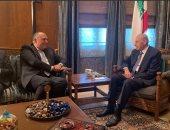 وزير الخارجية سامح شكرى يلتقى رئيس مجلس النواب اللبنانى