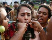 احتفالات دموية فى ماليزيا تكريماً للإله موروجان