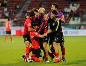 جانب من مباراة البحرين وكوريا
