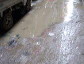 غرق الشارع بمياة الصرف الصحى