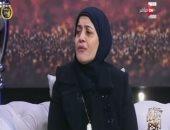 سوزان عبد المجيد والدة الشهيد الرائد إسلام مشهور
