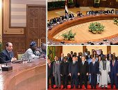 الرئيس السيسي ورؤساء المحاكم الدستورية والعليا الأفارقة