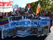 احتجاجات أمام سفارة أمريكا بالأرجنتين