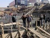أعمال بناء كوبرى القنطرة