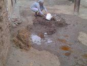 تهالك مواسير المياه بقرية البطران بالمنيا